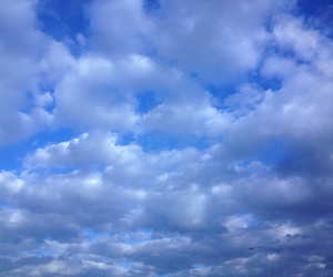 blue, aesthetic, and clouds image