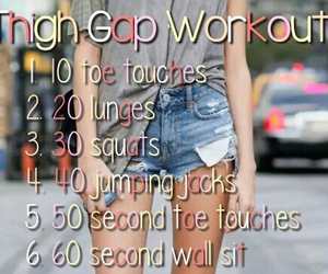 workout and thigh gap image