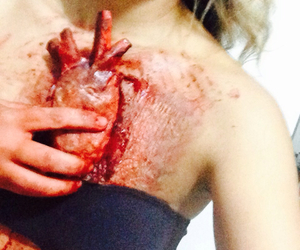 fx, heart, and makeup image