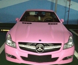 car, pink, and expensive image