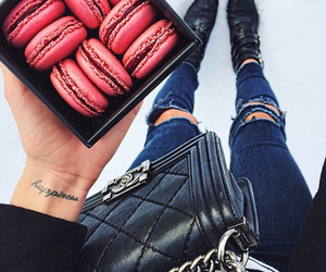 chanel, food, and jeans image
