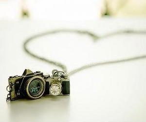 camera, heart, and necklace image