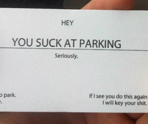 parking, funny, and card image