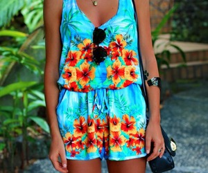 summer, fashion, and flowers image