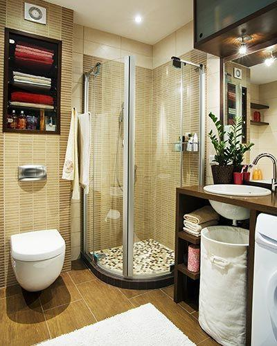 Neat And Comfortable Small Bathroom Ideas With Shower Stall