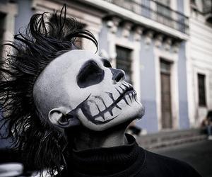 skull, boy, and Mohawk image