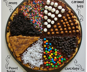 food, pizza, and chocolate image