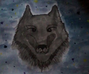 paint, wolf, and selfmade image