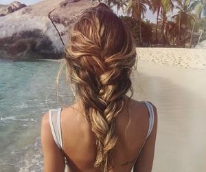 bikini, blonde, and fashion image