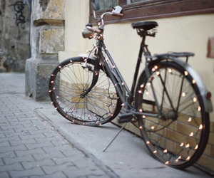 light, bike, and vintage image