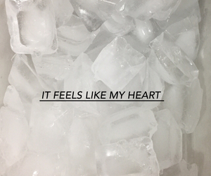 grunge, ice, and heart image
