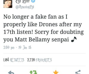 Matt Bellamy, muse, and twitter image