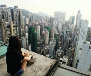 city, girl, and grunge image