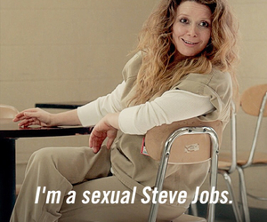 funny, Steve Jobs, and orange is the new black image