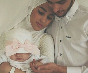 baby, muslim, and family image