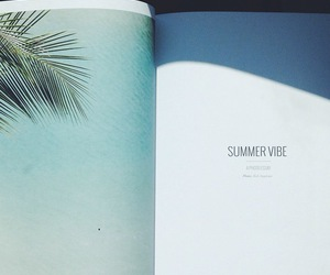 summer, blue, and book image