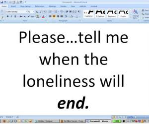 alone, end, and life image