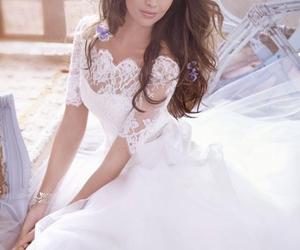 wedding dress, beautiful, and fashion image