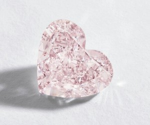 diamond, heart, and pink image