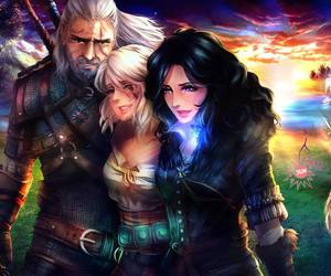 geralt, ciri, and art image