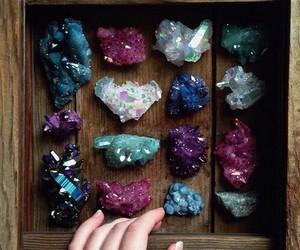 crystal, grunge, and stone image