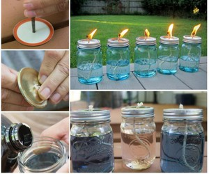 candles, diy, and tutorial image