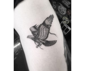 arm, artist, and eagle image