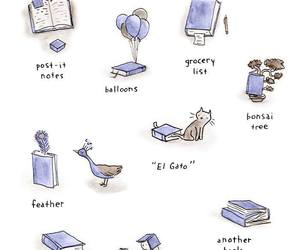 book, bookmark, and funny image