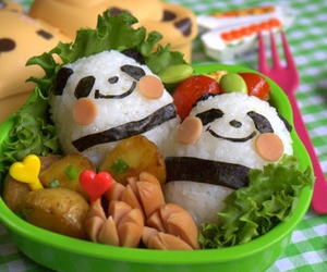 food, panda, and bento image