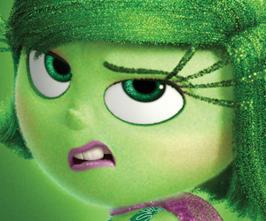 disgust, disney, and inside out image
