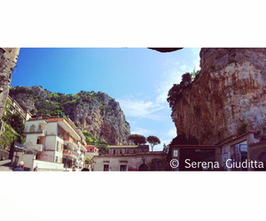 Amalfi, buildings, and clouds image
