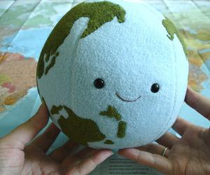 world, earth, and kawaii image