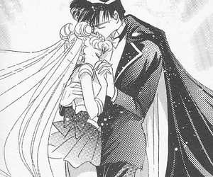 sailor moon, manga, and tuxedo mask image