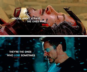 film, iron man, and heroes image
