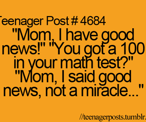 teenager post, math, and funny image