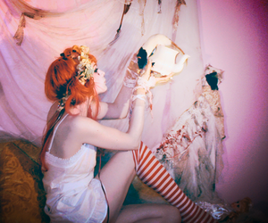 Emilie Autumn, red hair, and tea image