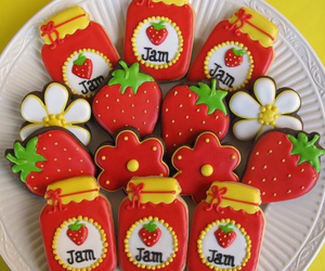 Cookies and strawberry image