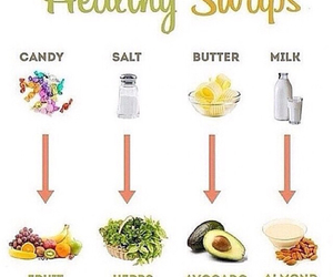 healthy, food, and swaps image