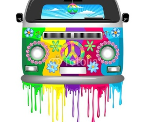 groovy, vector graphics, and peace and love image