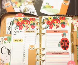 agenda, floral, and flowers image
