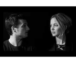 Jennifer Lawrence, josh hutcherson, and talking to image