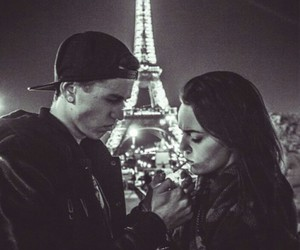 couple, love, and eiffeltower image