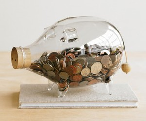 money, pig, and glass image