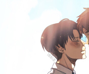 levi, snk, and eren image