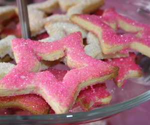 pink, stars, and food image