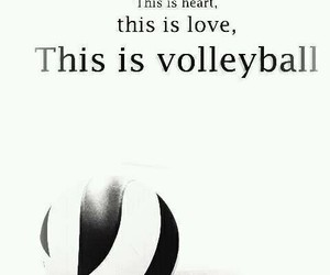volleyball, love, and heart image