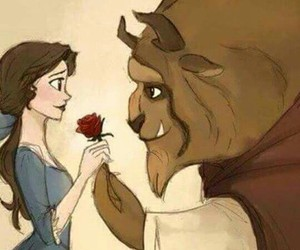 beast, picture, and beauty image