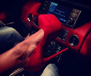 red, car, and shoes image