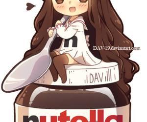 nutella, anime, and chibi image