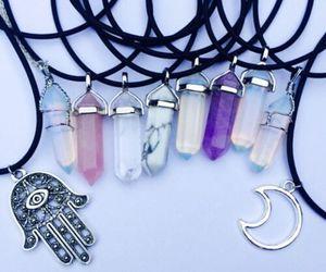 boho, necklase, and purple image